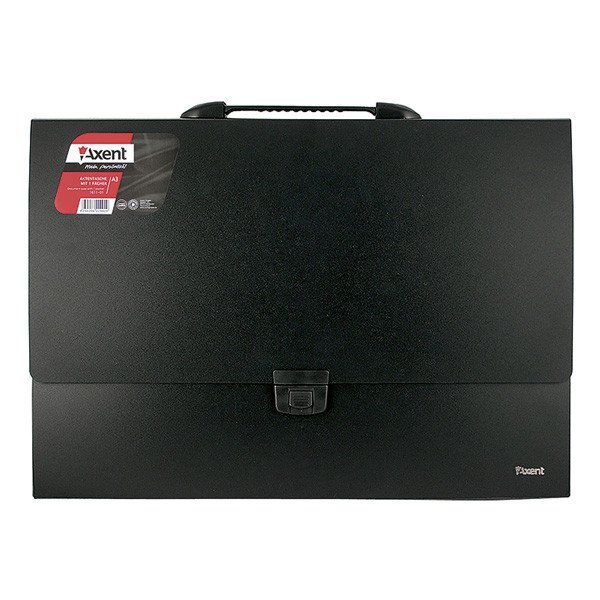 Портфель Axent А3 1 отд. пластиковый замок черный 1611-01-A