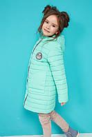 Милая детская куртка на весну с капюшоном