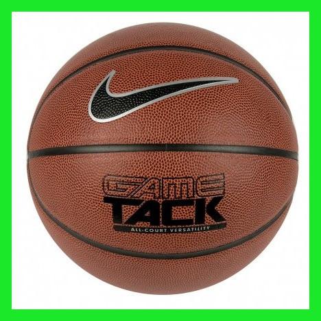 Мяч баскетбольный из композитной кожи для игры улица-зал Nike Game Tack размер 7, цвет коричневый
