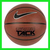 Мяч баскетбольный из композитной кожи для игры улица-зал Nike Game Tack размер 7, цвет коричневый, фото 1