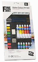 Подарочный набор для рисования акварельные краски 12 цвета*12 мл./31 предмет/