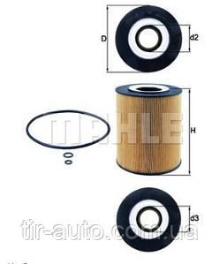 Фильтрующий элемент масляного фильтра MAN F2000, TGA, Neoplan  ( MAHLE ) OX146DECO