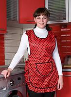 Женчский фартух красного цвета