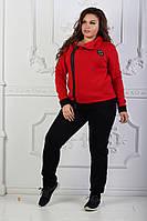 Женский спортивный костюм трехнитка Косуха, красный