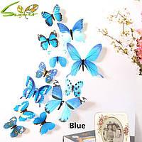 Декоративные 3D бабочки на стену