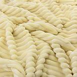 Лоскут  плюша в полоску Stripes кремового цвета 55*160 см, фото 3