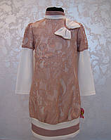 Нарядное платье для девочек 128,140,146,152,158 роста Гипюр