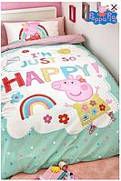 Детское постельное белье полуторный комплект Свинка Пеппа - для девочки