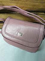Женский клатч розового цвета, с клапаном и регулируемым несъемным ремешком