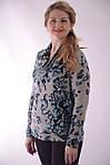Свитер деним  под джинсы  сероголубой с высоким горлом  Бл 664-5, фото 3