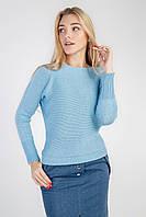 Романтический женский джемпер голубой, фото 1