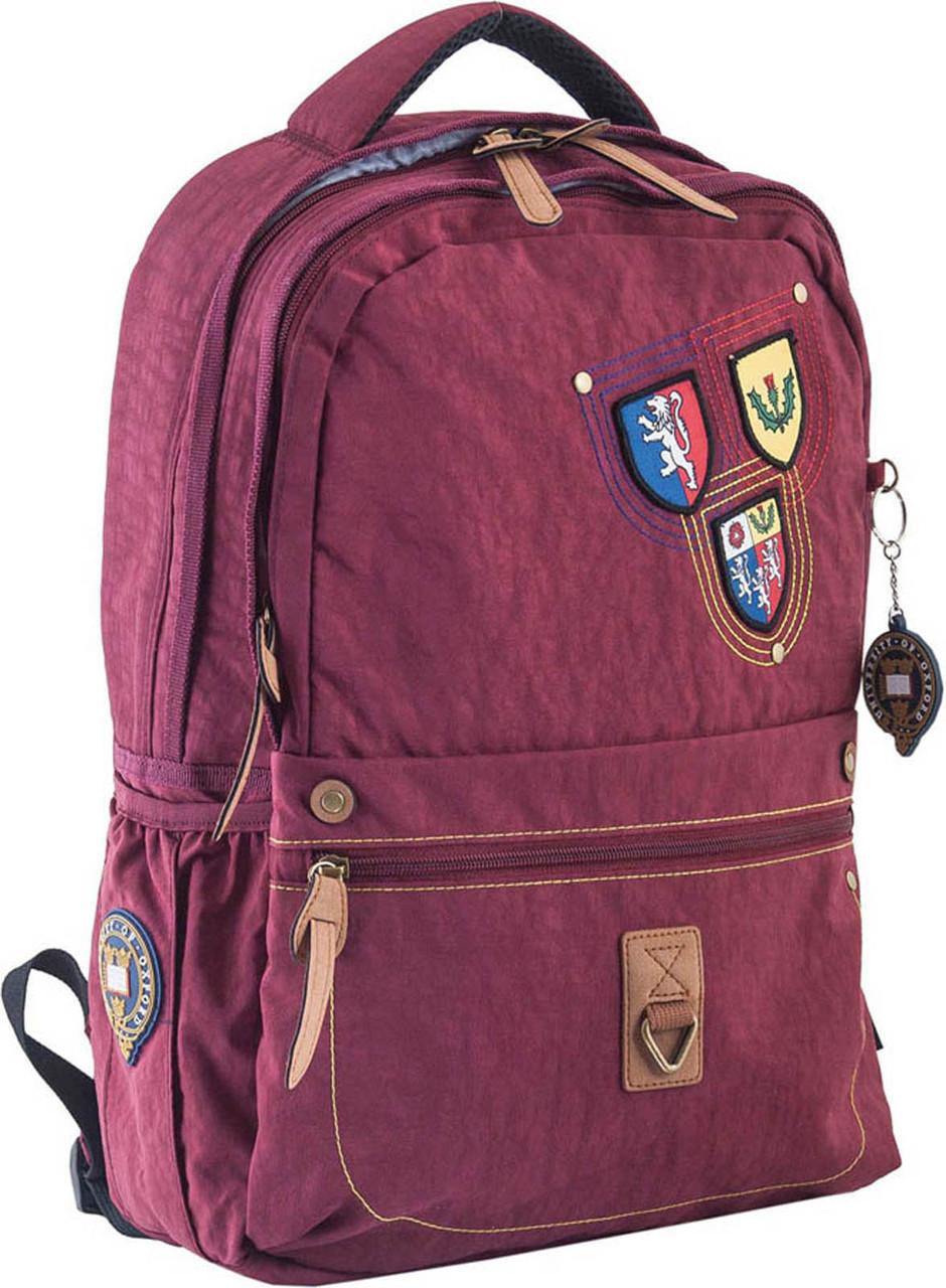 Рюкзак подростковый Yes OX 194 Oxford бордовый 553998