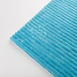Лоскут плюша в полоску М-60 размером 25*160 см, цвет бирюзовый, фото 3