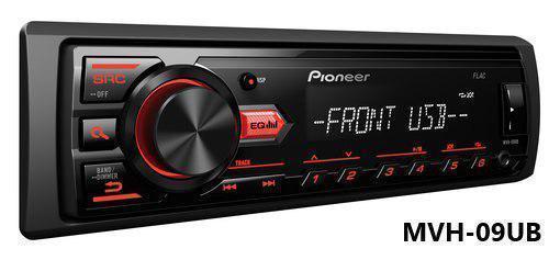 Автомагнитола Pioneer MVH-09UB поддержка USB флешки с mp3 и FLAC New