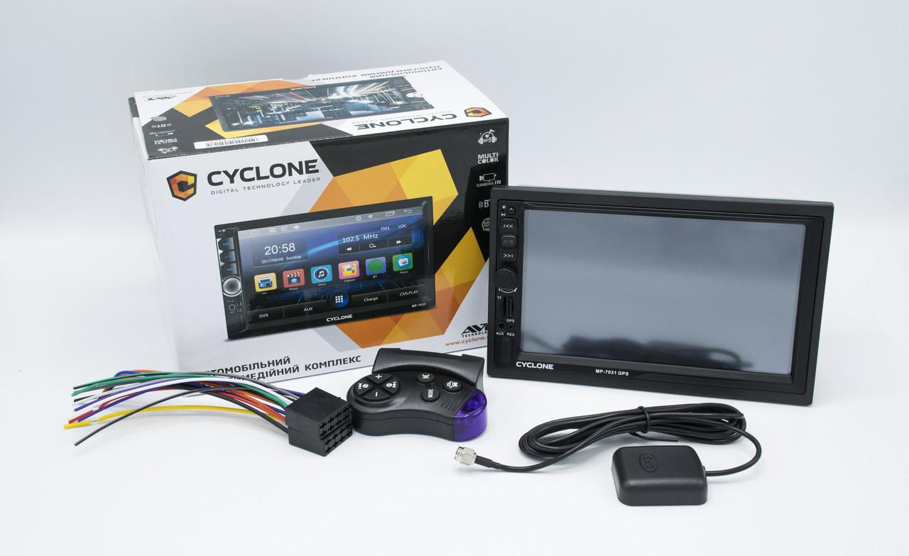 Автомагнитола CYCLONE MP-7031 GPS, 2 DIN