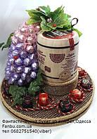 """Оригинальный подарок """"Бочонок кофе с конфетным виноградом"""", фото 1"""