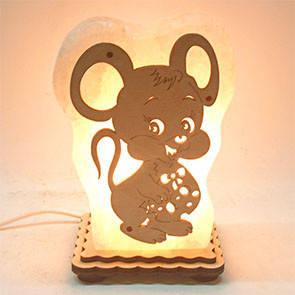 Соляний світильник Миша