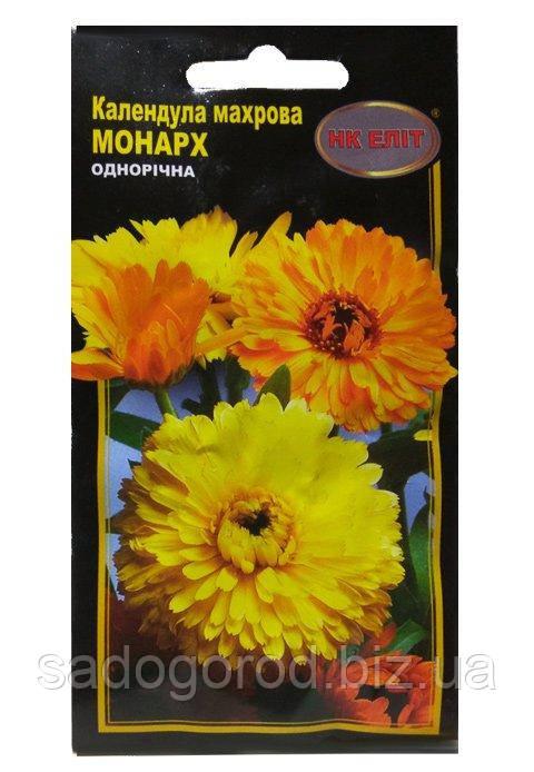 Семена Цветов, Календула Монарх махровая, 1 г