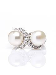 Кільце срібне з перлами R-346 (р. 16.5)