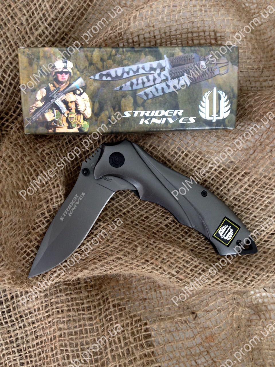 Ніж тактичний Strider Knives U. S. A. Титанове покриття. Напівавтомат.
