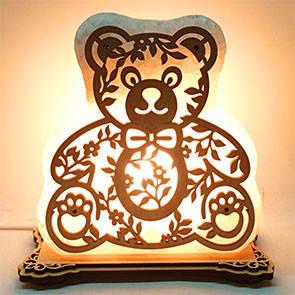 Соляний світильник Ведмедик