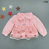 Меховое пальто для девочки. 1-2;  2-3 года, фото 1