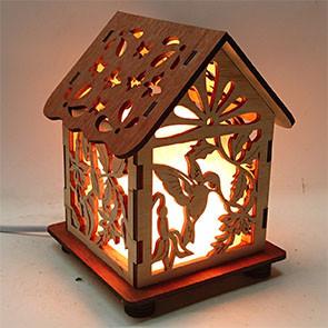 Соляной светильник дом куб