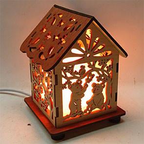 Соляний світильник будинок куб