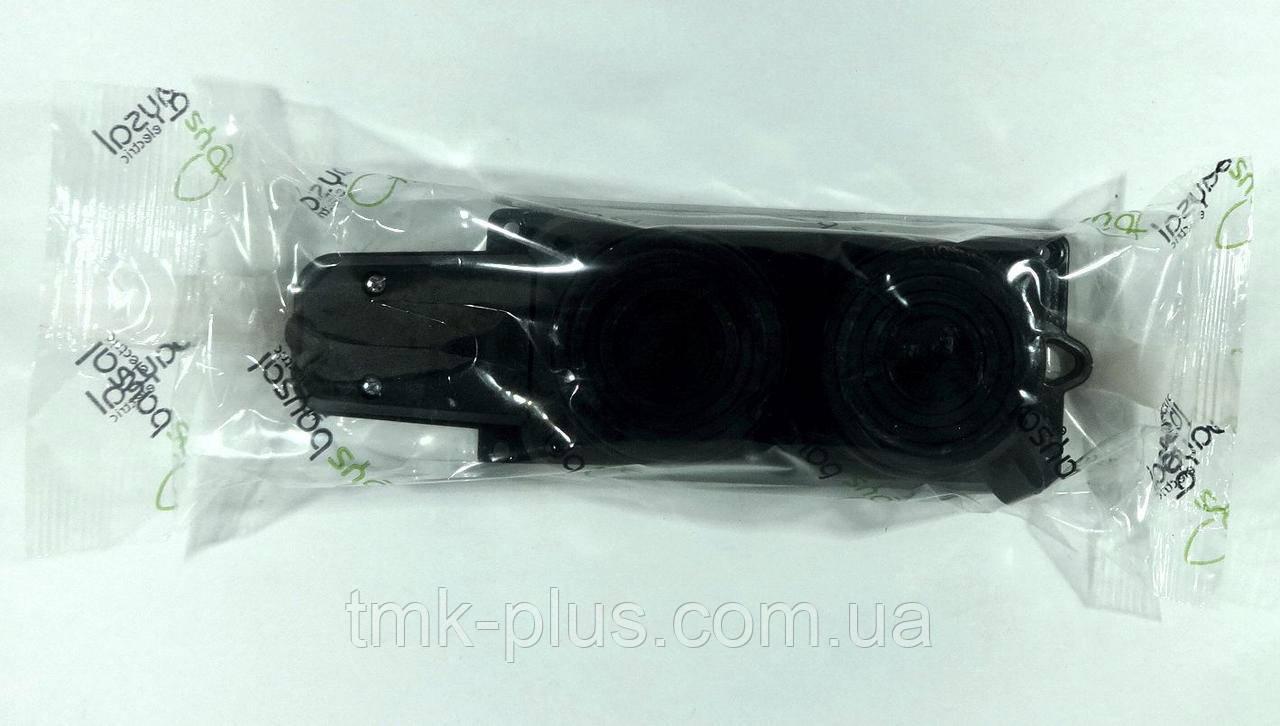 Колодка двійна (чорна) 1*16А (каучук) ALFA