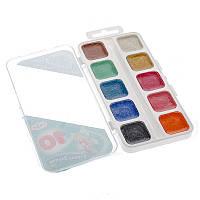 Краски акварельные Страна эльфов Гамма 10 цветов пластуп перламутровые 212060Н