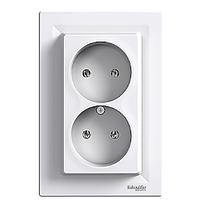 Розетка двойная  Schneider Electric Asfora Белый EPH9700121