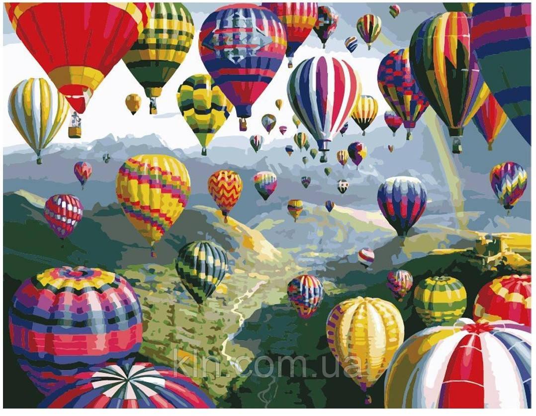 Живопись по номерам MG 1056 (КН1056) Разноцветные шары 40 х 50 см