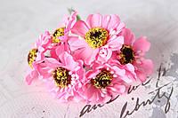 Цветы герберы диаметр 4 см, розового цвета, фото 1