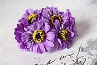 Цветы герберы диаметр 4 см фиолетового цвета, фото 1