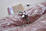 Кольцо Бабочка из Белого Золота 585 пробы 1.53 грамма 17 размер, фото 8