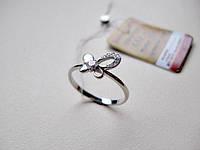 Кольцо Бабочка из Белого Золота 585 пробы 1.53 грамма 17 размер