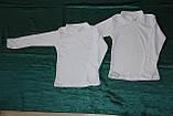 Гольфик Американка біла довгий рукав інтерлок, фото 3