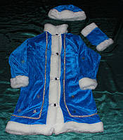 Карнавальный костюм Снегурочка велюр