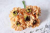 Цветы герберы диаметр 4 см кофейного цвета, фото 1