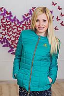 Курточка женская ШАНЕЛЬ зеленая