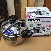Скороварка FRICO FRU-651 5л + стеклянная крышка + пароварка
