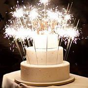 Свічки для торта, фонтани