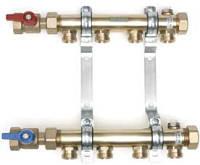 """Колектор розподільчий HLV 5 для систем опалення, 5 контурів 3/4"""" (комплект з 2 шаровими кранами 1"""")"""