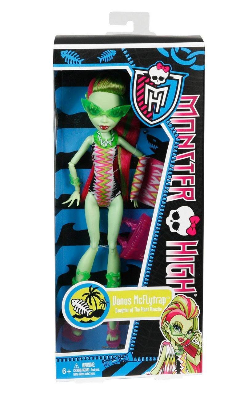 Купить Кукла Monster High Венера Мухоловка в купальнике ...