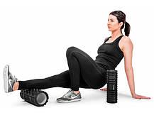 Роллер массажер для кросфита и йоги Hop-Sport HS-001YG black, фото 3