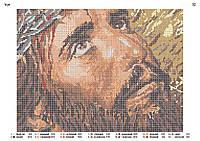 """Схема для вышивки бисером """"Иисус"""" полная вышивка"""