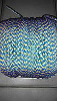 """Верёвка """"Крокус"""" (шнур) диаметром 4мм паракорд (желто-синяя)"""