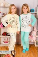 Детская пижама байка Кошечка от 1 до 6 лет