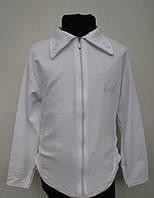 Белая блуза для девочек на молнии