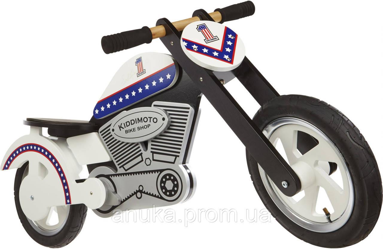 """Беговел 12"""" Kiddi Moto Chopper Evel деревянный"""